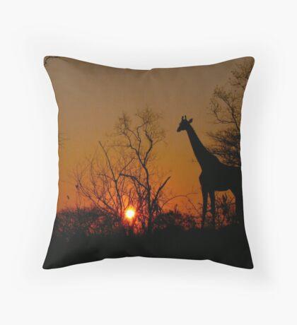 African Sunset... Throw Pillow