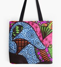 Abstract Fluoro 10  Tote Bag