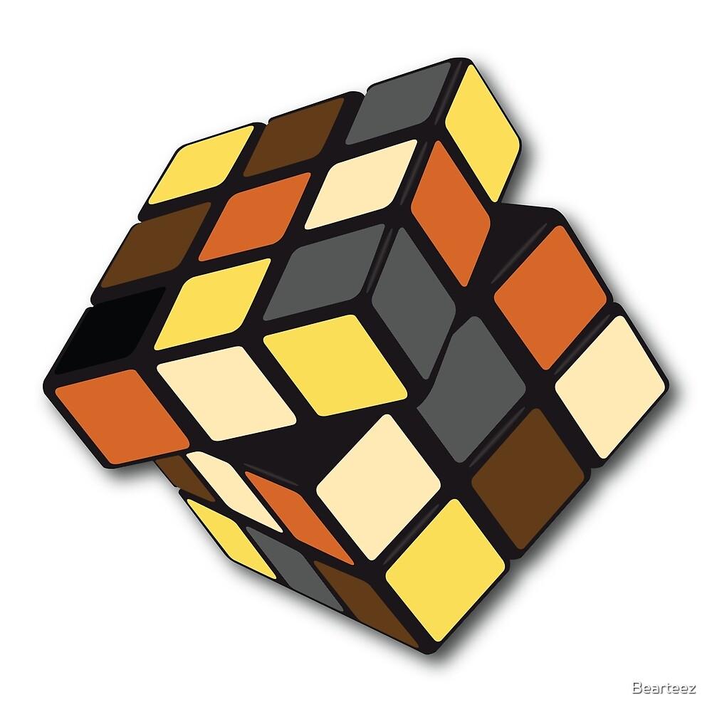 Rubik Cube Bear by Bearteez
