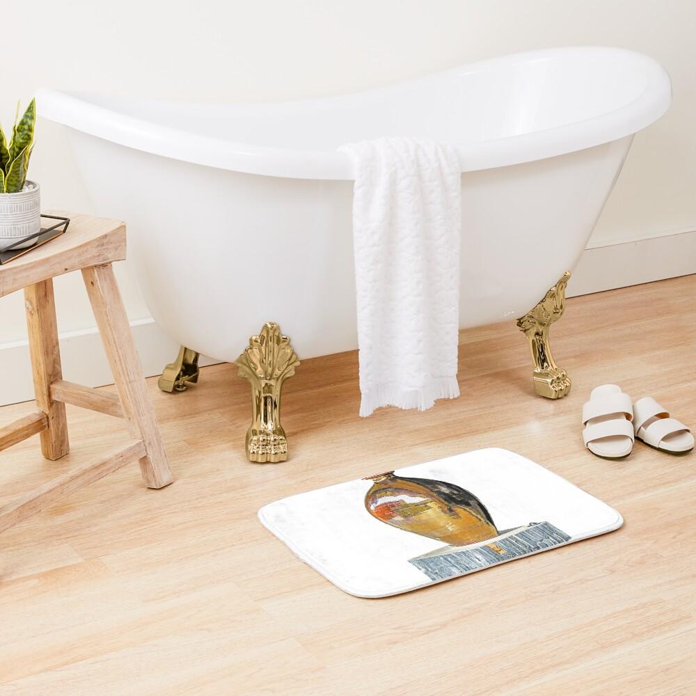 Bronze vase Bath Mat
