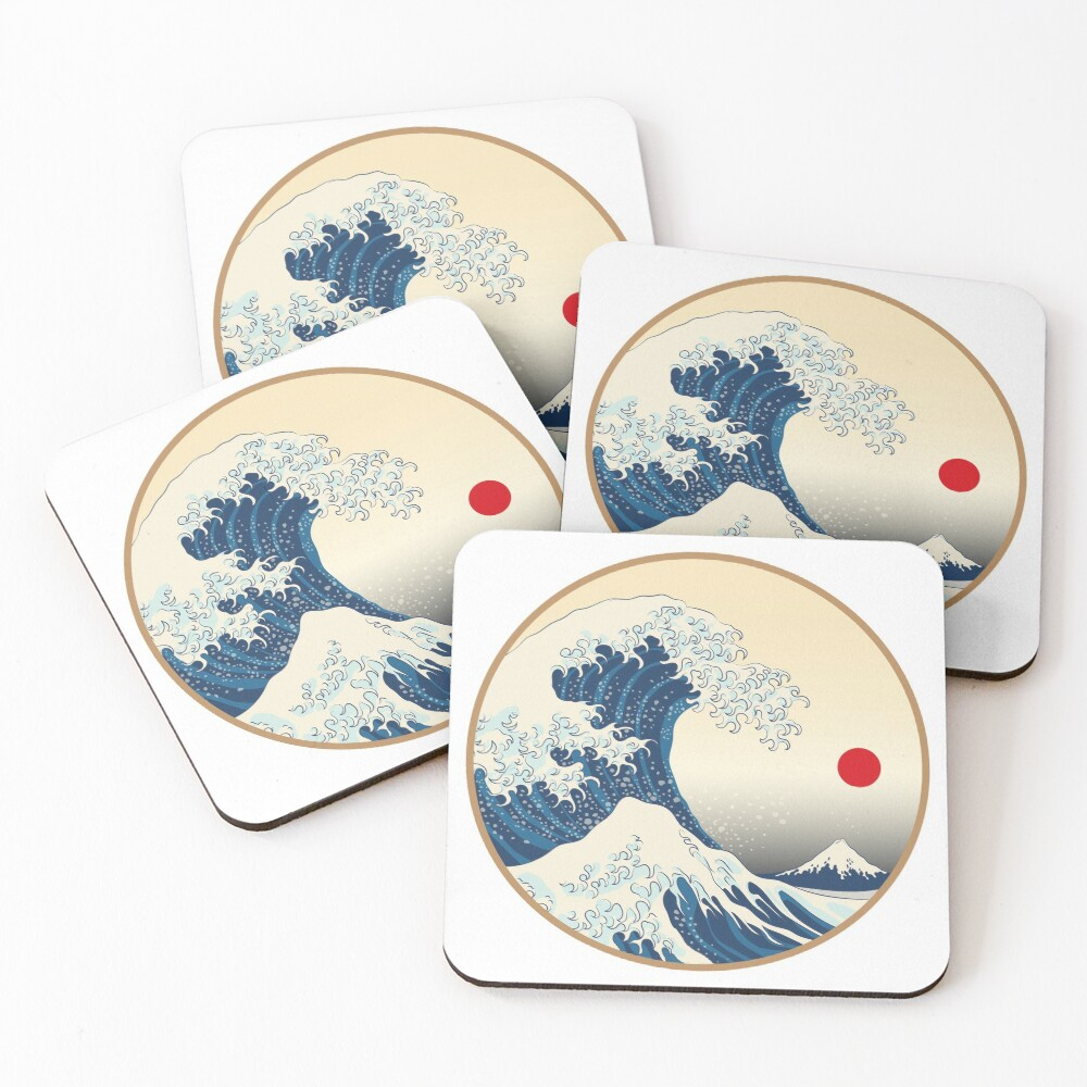 Japanese Art Coasters (Set of 4)