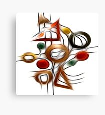 Abstract Shapes Oil Painting #1 Canvas Print