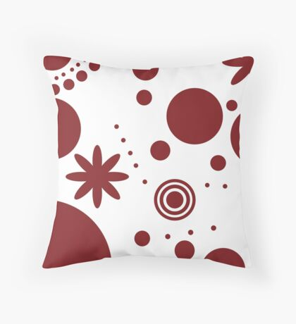 Mpattern White/red Throw Pillow
