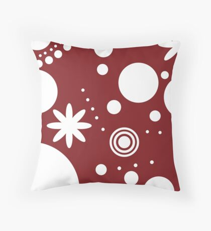 Mpattern red/white Throw Pillow