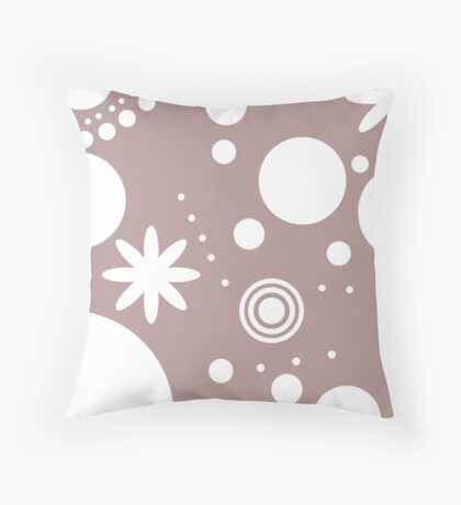 Mpattern Pink/White Throw Pillow