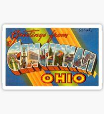 Greetings from Cincinnati, OH Sticker