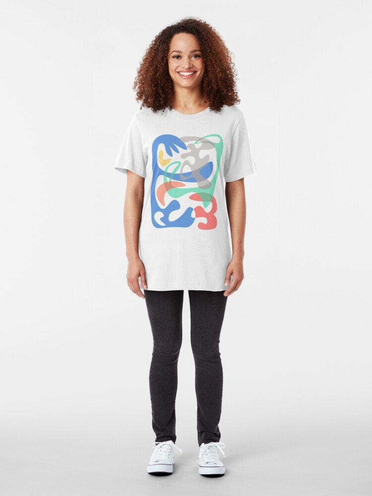 Alternate view of Abstract Art Slim Fit T-Shirt