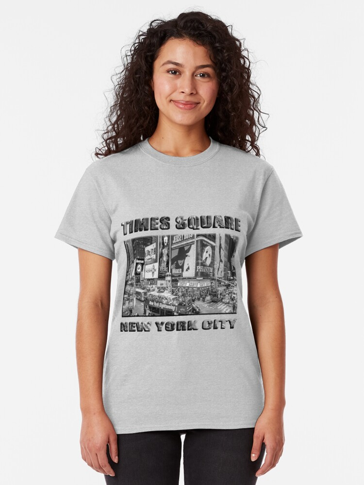 Alternate view of Times Square II Special Edition II (B&W) Classic T-Shirt