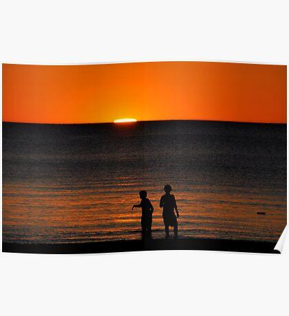 Sunset at Grange Poster