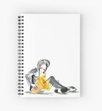 Saxophonist Musician Music Expressive Drawing Spiral Notebook