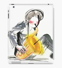 Saxophonist Musician Music Expressive Drawing iPad Case/Skin