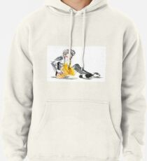Saxophonist Musician Music Expressive Drawing Pullover Hoodie