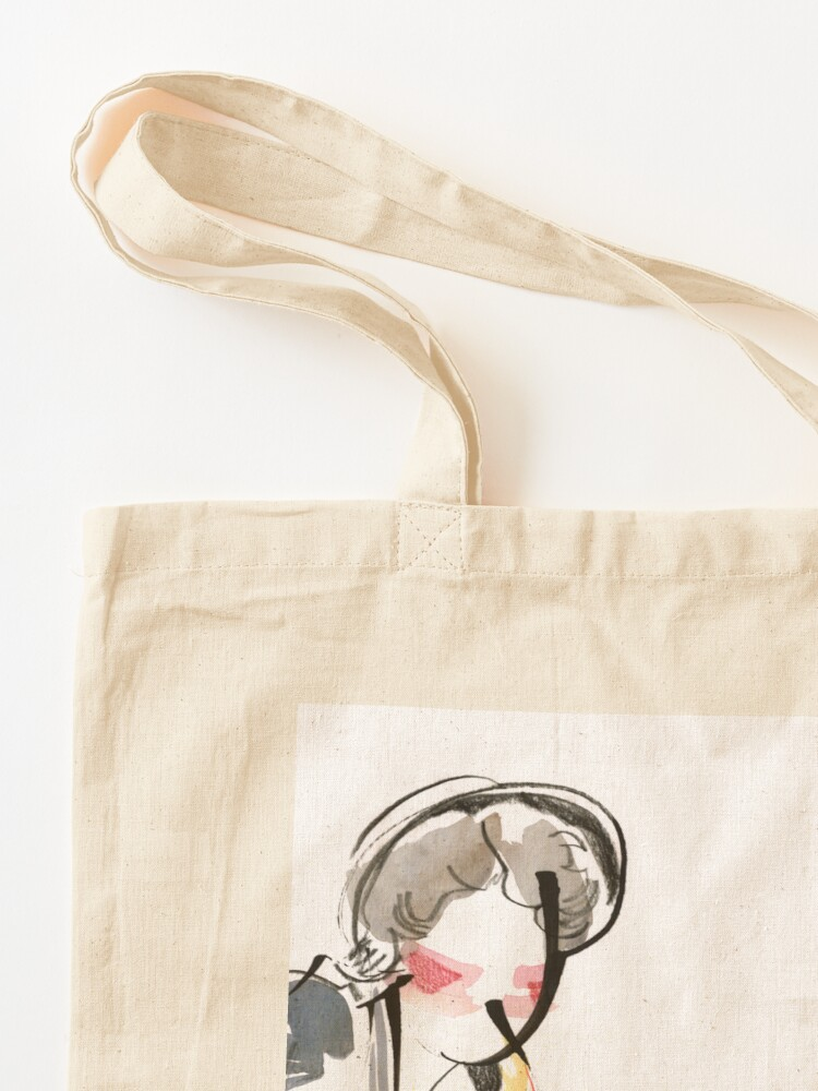 Alternate view of Saxophonist Musician Music Expressive Drawing Tote Bag