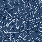 Ab Dotted Lines Navy by ProjectM
