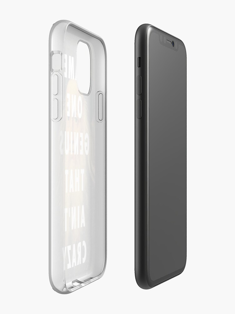 coque pour couple | Coque iPhone « NOM UN GENIUS QUE AINT CRAZY // KANYE », par Barbzzm