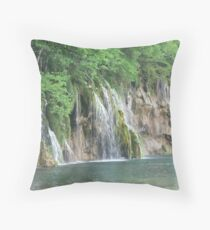 National Park Plitvice Lakes by Srecko Bozicevic Throw Pillow