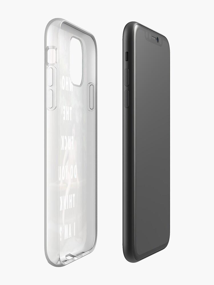 coque uag iphone xs   Coque iPhone «QUI LE FUCK PENSEZ-VOUS JE SUIS // BEY», par Barbzzm