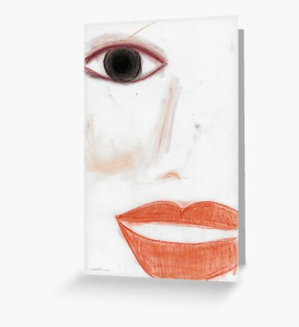 Face © Vicki Ferrari  Greeting Card