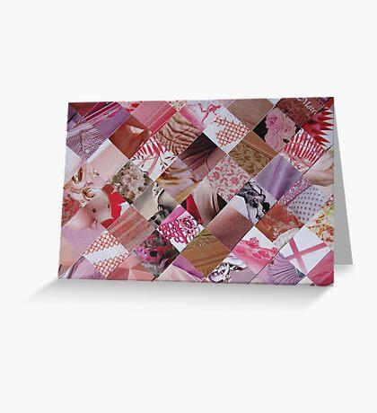 Pink card Greeting Card