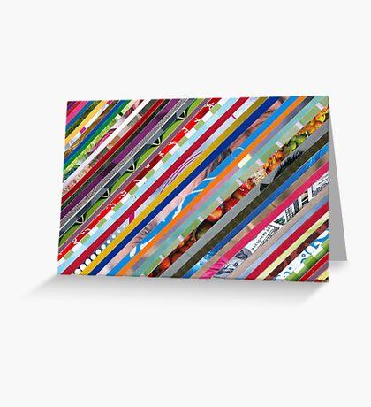 Stripe card Greeting Card