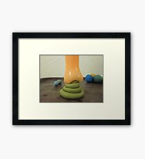 human product attacked by alien product Framed Print