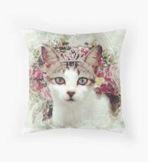 Princess Cat Throw Pillow