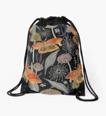 Midnight Moth Drawstring Bag