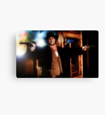 ...and the Gunslinger followed Canvas Print