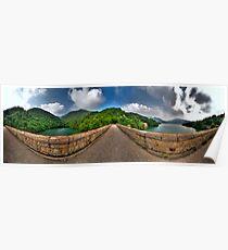 Tai Tam Tuk Reservoir - 360 Degree HDR Panoramic Poster