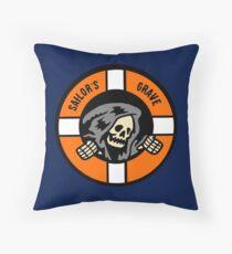 Sailor's Grave - Life Ring Reaper  Throw Pillow