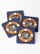 Sailor's Grave - Life Ring Reaper  Coasters