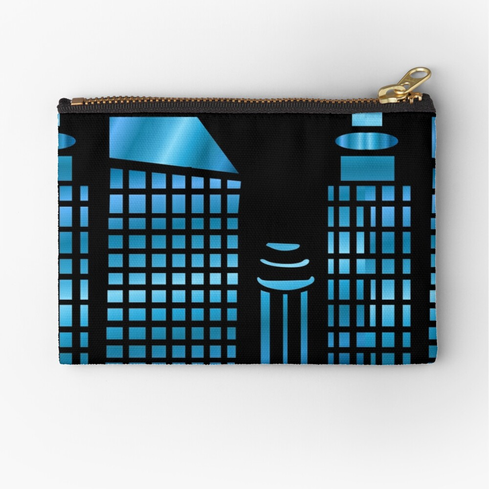 Night time in the city Zipper Pouch