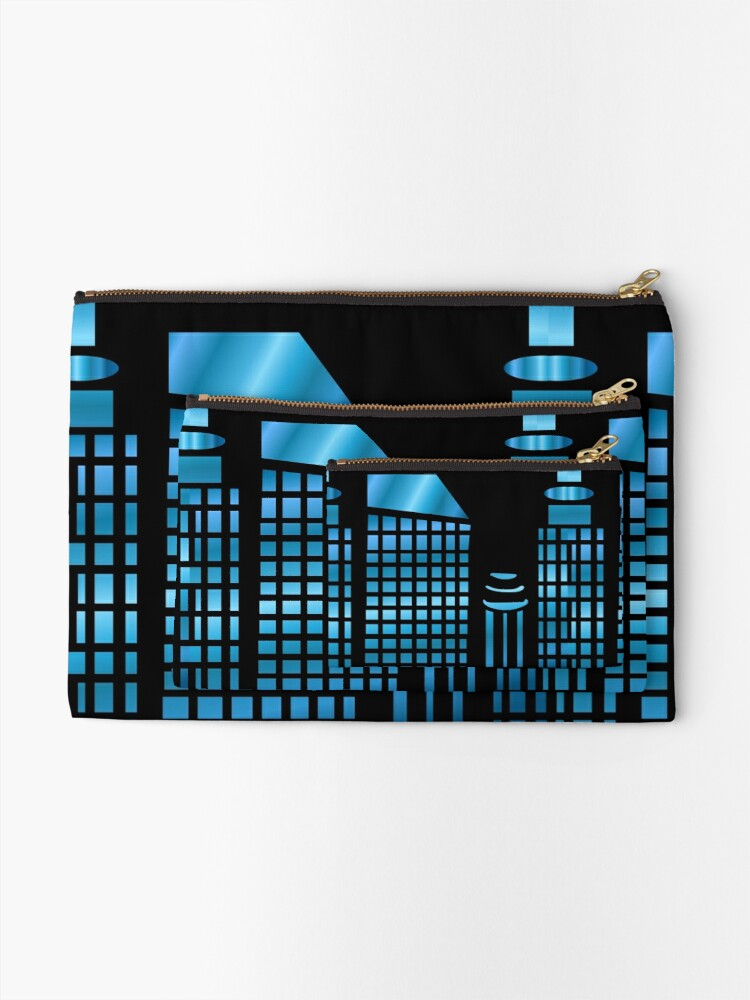 Alternate view of Night time in the city Zipper Pouch