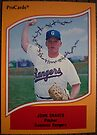 499 - John Graves by Foob's Baseball Cards