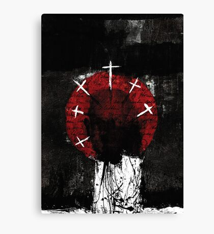 RED CIRCLE FOR AN ATHEIST Canvas Print