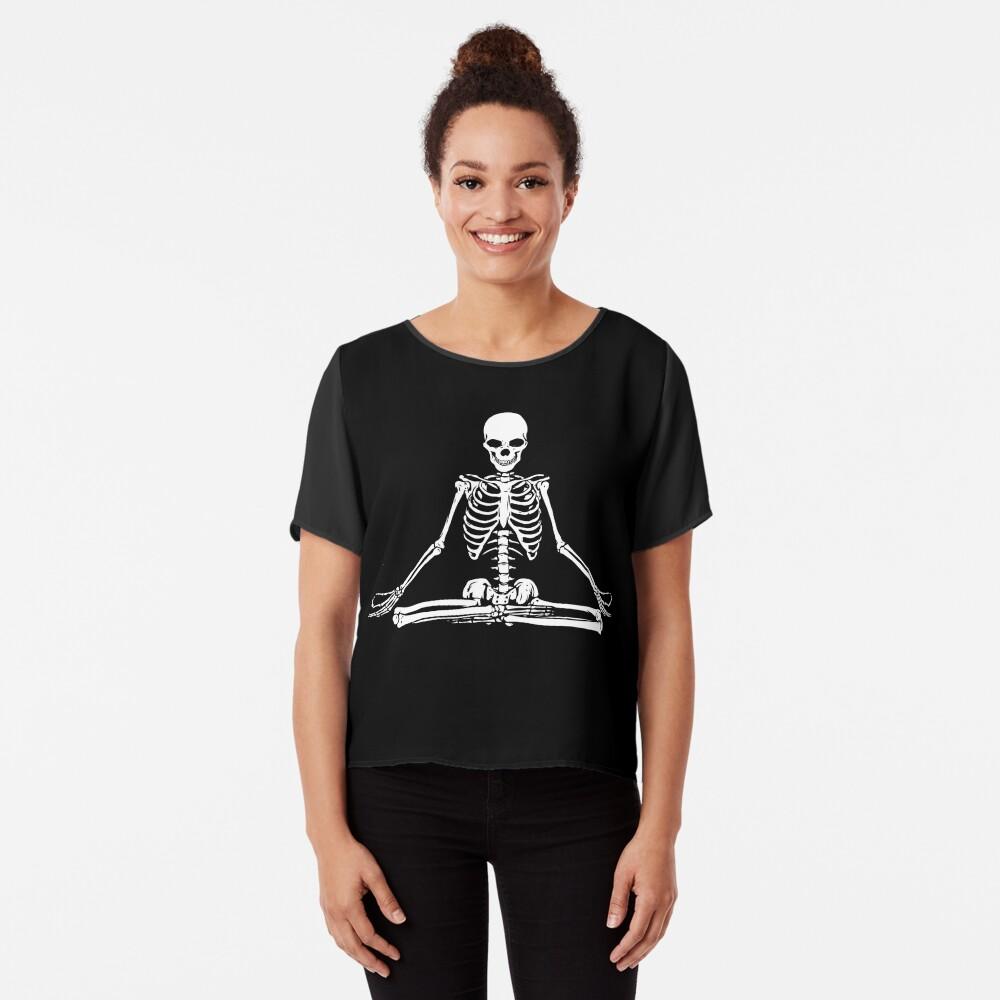 Esqueleto Meditando Blusa