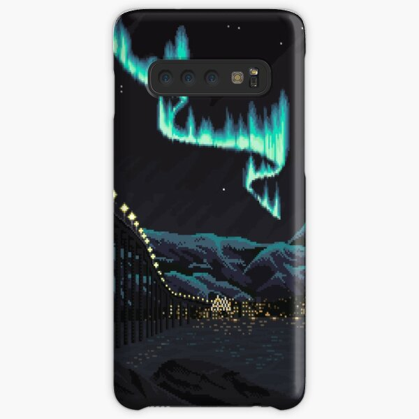 Pixel Art: Northern Lights over Tromsø Samsung Galaxy Snap Case