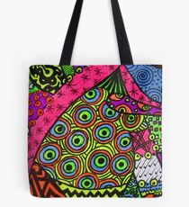 Abstract Fluoro 2 portrait View  Tote Bag