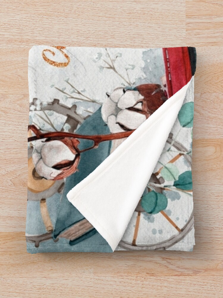 Alternate view of Be careful of books Throw Blanket