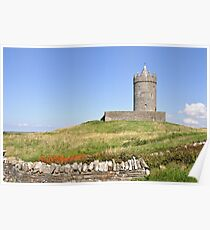 Doolin Castle, County Clare, Ireland Poster