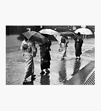 Caught In The Rain Photographic Print