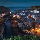 Staithes at Dusk, North Yorkshire by Dave Hudspeth