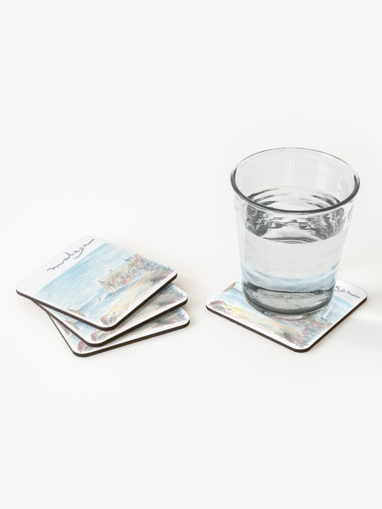 Alternate view of Malaga · Holidays on the Costa del Sol · Coasters (Set of 4)