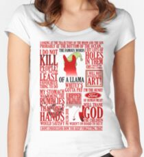 The Famous Words Of A Llama Women's Fitted Scoop T-Shirt