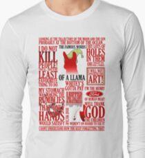 Die berühmten Wörter eines Llama Langarmshirt