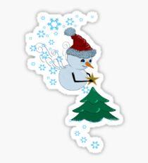 Enchanted Snowman T-shirt Sticker