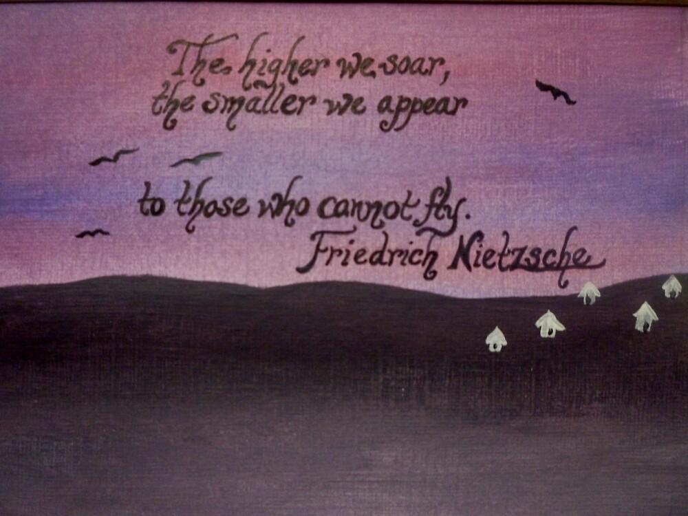 Friedrich Nietzsche Quote On Acrylic by Works By  Barbara