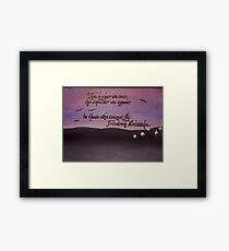 Friedrich Nietzsche Quote On Acrylic Framed Print