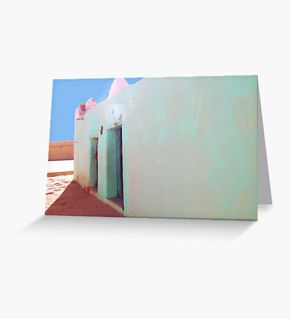 Beautiful Algeria - Love those Turquoise Buildings Greeting Card
