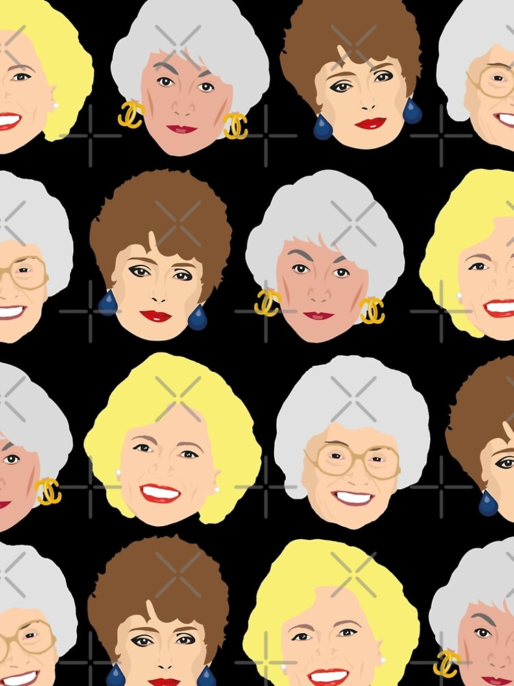 The Golden Girls Patterned Portraits by gregs-celeb-art